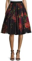 Ted Baker Ondra Floral-Print Tulle Midi Skirt