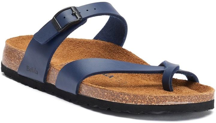 2e175927004c8 Birkenstock Blue Leather Footbed Women's Sandals - ShopStyle