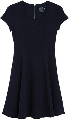 Gabby Skye Short Sleeve Fit and Flare Dress