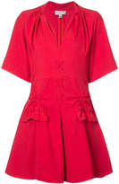 Carven stitch and pocket detailed mini dress