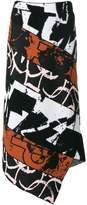 Proenza Schouler asymmetric panelled skirt
