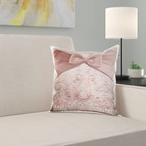 LurLine Bow on Lace Throw Pillow Cover East Urban Home Color: Peach