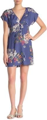 Angie Floral Kimono Sleeve Dress