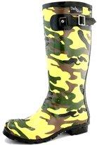 Women's DailyShoes Mid Calf Knee High Hunter Rain Boot Round Toe Rainboots, 9