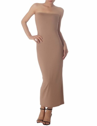 Ib Ip iB-iP Women's Casual Sleeveless Stretch Tube Pencil Bodycon Long Strapless Dress Size: 10
