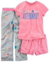 Carter's Girls 4-14 3-pc. Pajama Set