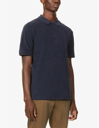 Sunspel Cotton-towelling polo shirt