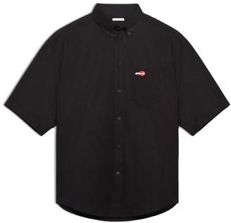 Balenciaga Short sleeve large fit shirt with logo
