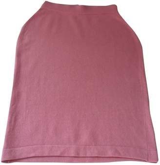 Chanel Pink Cashmere Skirts
