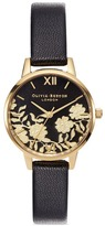 Olivia Burton 'Lace Detail' floral motif 30mm midi watch