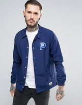 Penfield Howard Coach Jacket Nylon P Logo in Navy