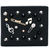 Dolce & Gabbana musical embroidered wallet - men - Leather/Metal (Other) - One Size