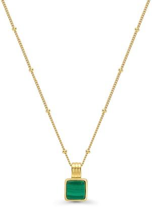 Missoma Lucy Williams Square Malachite Necklace