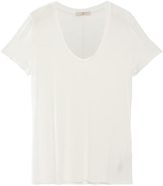 7 For All Mankind Stretch Slub-jersey T-shirt