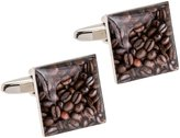 CuffCrazy Coffee Bean Cufflinks