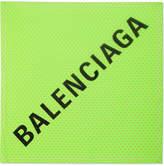 Balenciaga Printed Cotton-blend Voile Scarf - Lime green