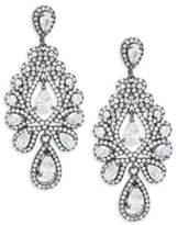 Saks Fifth Avenue Crystal Faceted Chandelier Earrings