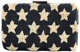 Kayu Straw Star Clutch Black