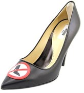 Moschino Ma1027ac01mn0000 Women Pointed Toe Leather Black Heels.