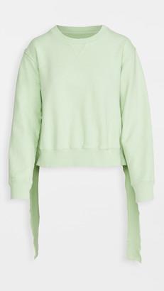 MM6 MAISON MARGIELA Deconstructed Hem Sweatshirt