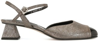 YUUL YIE Edam metallic-print sandals