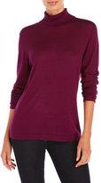August Silk Long Sleeve Turtleneck Sweater