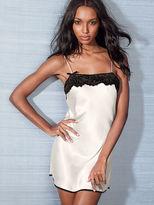 Victoria's Secret Dream Angels Lace-trim Satin Slip