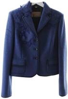 John Galliano Blue Wool Jacket for Women