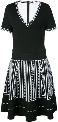 Carolina Herrera Knitted Skater Dress