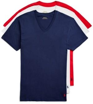 Polo Ralph Lauren Men's 3-Pk. Classic-Fit Cotton V-Neck Undershirts