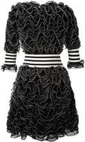 Alexander McQueen ruffled stretch knit mini dress