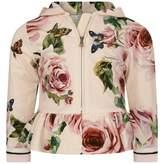 Dolce & Gabbana Dolce & GabbanaBaby Girls Rose Print Zip Up Top