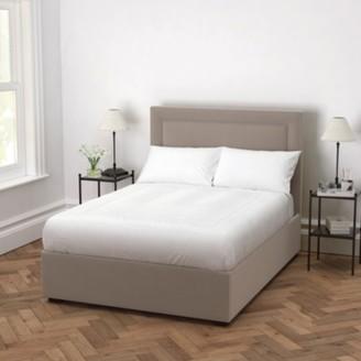 The White Company Cavendish Velvet Bed - Headboard Height 154cm, Stone Velvet, Super King