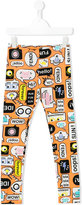 Fendi printed leggings - kids - Cotton/Spandex/Elastane - 8 yrs