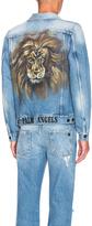 Palm Angels Lion Denim Jacket