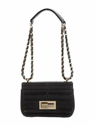 Elie Saab Quilted Leather Flap Bag Black