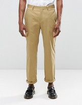 Religion Straight Leg Cropped Suit Trousers In Camel