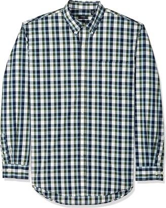 Arrow 1851 Arrow Men's Big and Tall Long Sleeve Plaid Hamilton Shirt