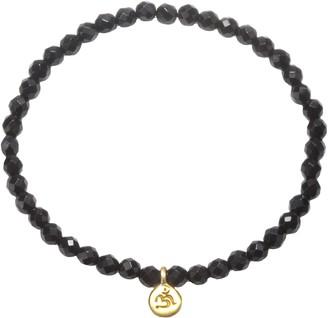 Satya 3.5mm Gemstone Bead Bracelet, Goldtone Brass