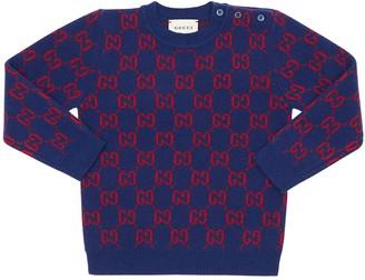 Gucci Logo Jacquard Wool Knit Sweater