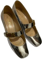 Christian Dior Baby-D Silver Patent leather Ballet flats