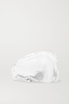 Maryam Nassir Zadeh Wave Glass Ring - White