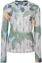 Yigal Azrouel tropical bird mesh top - women - Polyester/Spandex/Elastane - 0