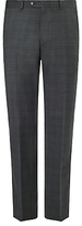 John Lewis Super 100s Wool Sharkskin Check Tailored Suit Trousers, Grey