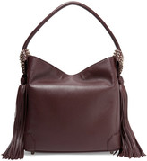 Christian Louboutin Eloise Tasseled Textured-leather Shoulder Bag - Merlot
