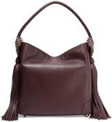 Christian Louboutin Eloise Tasseled Textured-leather Shoulder Bag - Merlot