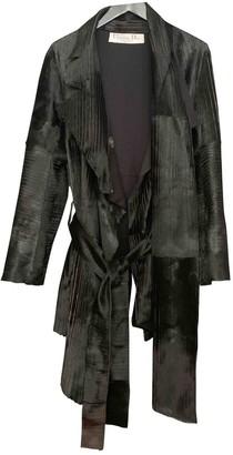 Christian Dior Black Fur Coat for Women Vintage
