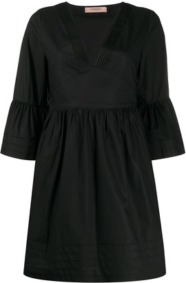 Twin-Set Short V-Neck Dress