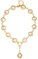 Chanel Vintage Two Row Gold & Crystal Bracelet