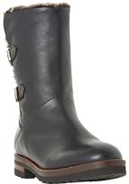 Dune Raylan Buckle Calf Boots, Black